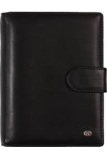De Rooy 1311-Yd de Rooy pocket organiser leather - soft black  Silvertip + free agenda