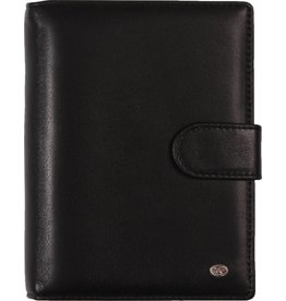 De Rooy 1311-Yd de Rooy pocket organiser leather - soft black  Silvertip + free agenda