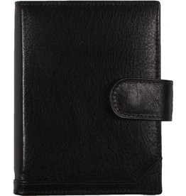 De Rooy 1311-Ya de Rooy pocket organiser leather - black  Silvertip + free agenda