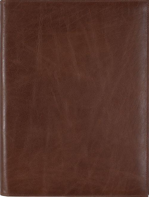 Kalpa Zurich schrijfmap Classic bruin - leer