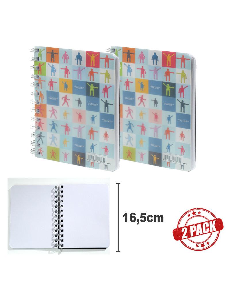 Kalpa 7119 - 2 notitieboekjes Twins Medium