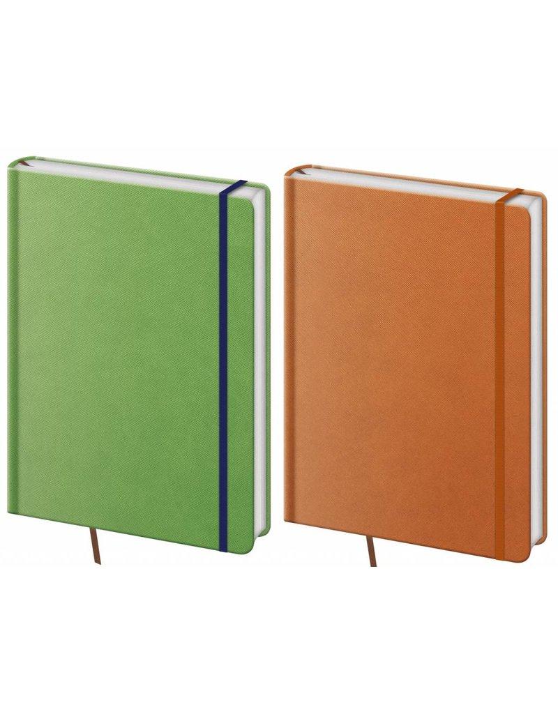 BNPR464-6 - pakket 6 stuks A4 notitieboeken Praga oranje en groen