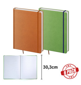 BNPR464-6  Packet of 6 A4 notebooks Praga orange and green