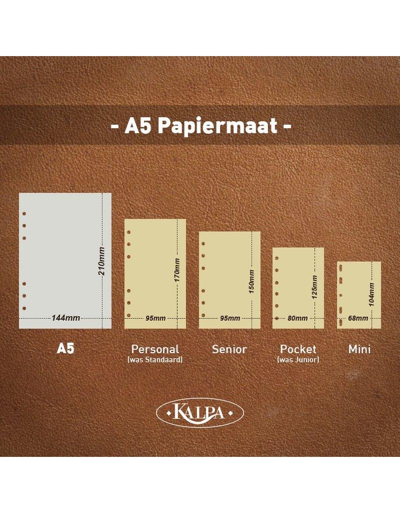 Kalpa A4 schrijfmap en A5 organiser pullup zwart