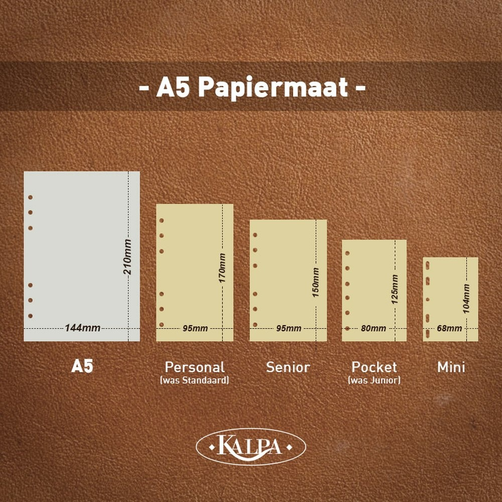 Kalpa A5 organiser Agypa Zwart