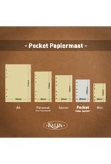 Kalpa 1311-62 Kalpa Junior Pocket Organiser with Paper Fillers, Weekly Planner, Journal, Diary - Gloss Crock Red