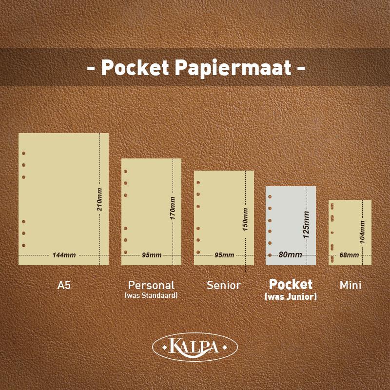 Kalpa 1311-66 Kalpa Junior Pocket Organiser with Paper Fillers, Weekly Planner, Journal, Diary - Croco Moss