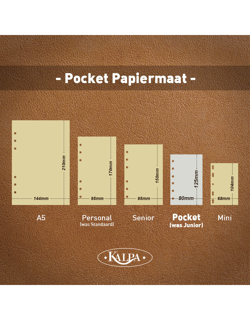 Kalpa Junior Pocket organizer zwart - leer