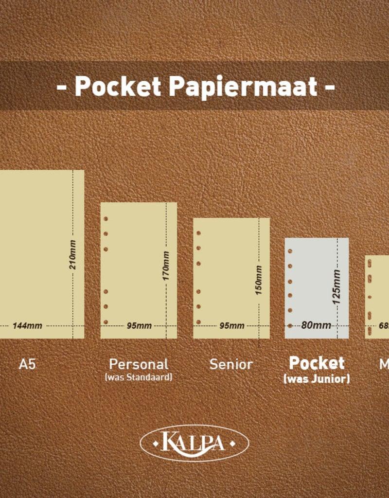 De Rooy de Rooy Pocket - Junior organizer leer - Sepia bruin