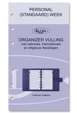 Kalpa Personal (Standaard) organizer gloss croco taupe