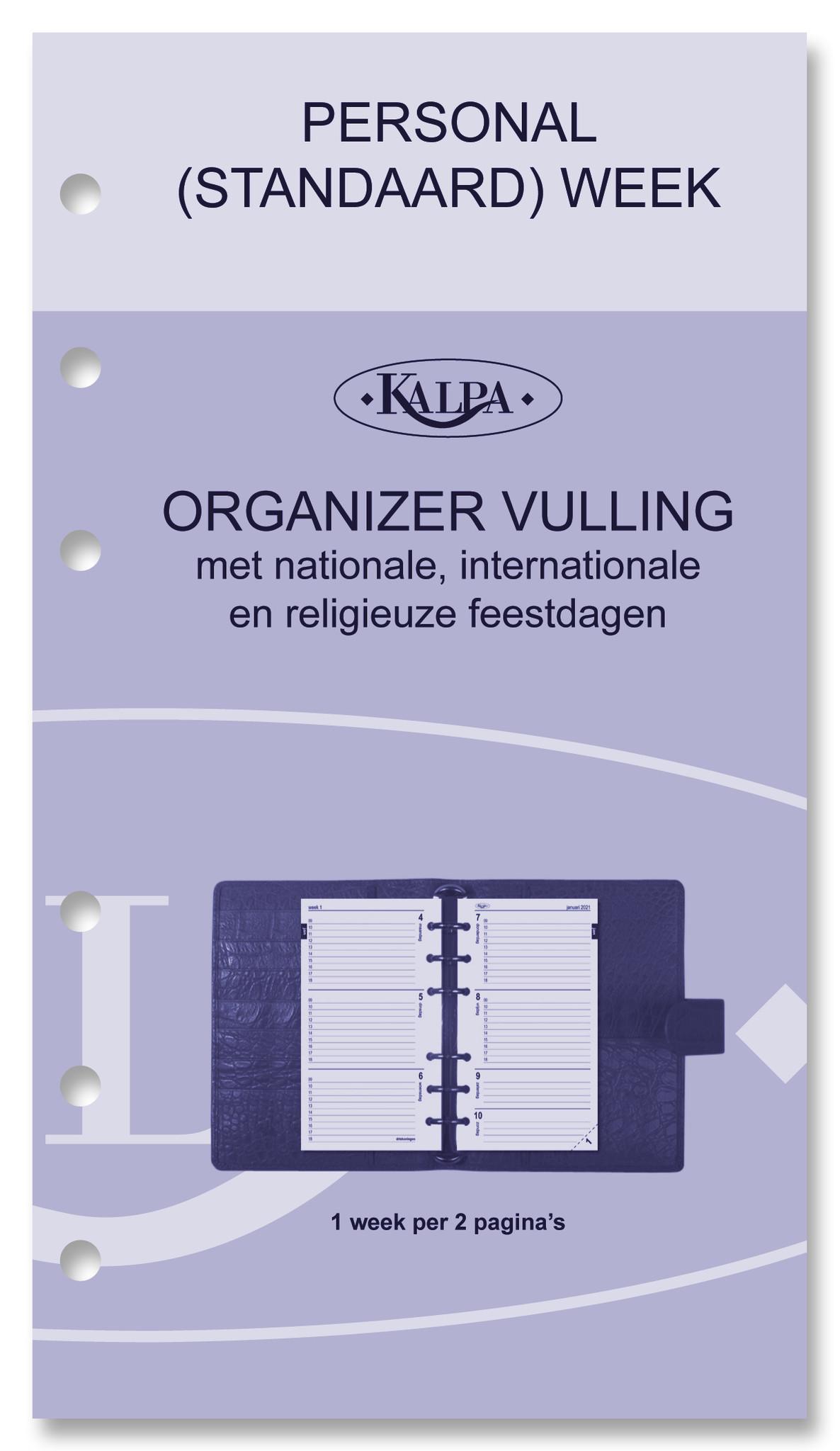 Kalpa Personal (standaard) organiser gloss croco taupe