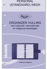 Kalpa Personal (standaard) organiser croco parelmoer