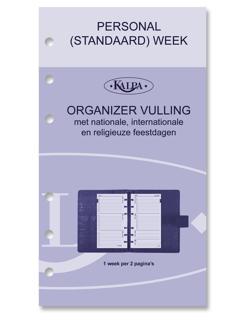 Kalpa Personal (Standaard) organizer gloss croco parelmoer