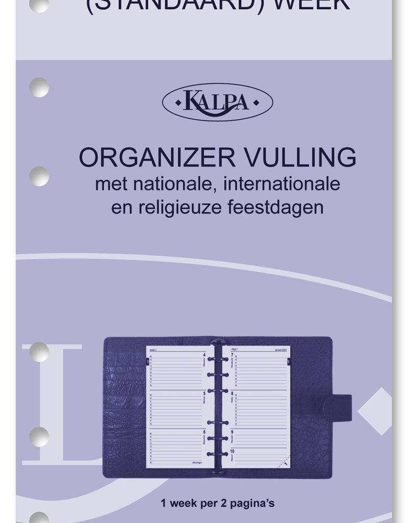 Kalpa Personal (standaard) organiser cobalt croco blauw