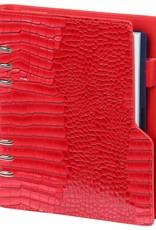Kalpa Compact A5 organiser Gloss Croco Rood  met planner