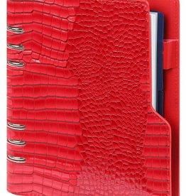 Kalpa 1016-62 Compact A5 organiser Gloss Croco Rood met planner
