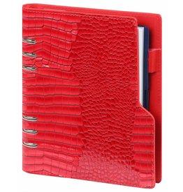 Kalpa P1016-62 Compact A5 organizer gloss croco rood met planner