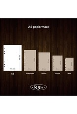 Kalpa A5 organiser Note paper  - Bullet Journal 80 sheets - 4 sets