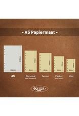 Kalpa Compact A5 organiser Gloss Croco Zwart  met Planner