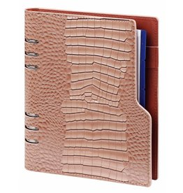 Kalpa P1016-63 Kalpa A5 Compact Organizer Gloss Croco Taupe with Planner
