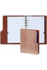 Kalpa Compact A5 organizer gloss croco taupe met planner