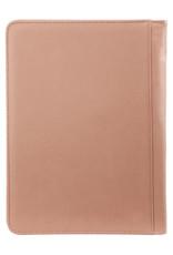 Kalpa Alpstein schrijfmap met rits pastel roze groen