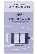 Kalpa Personal (Standaard) organizer croco indigo