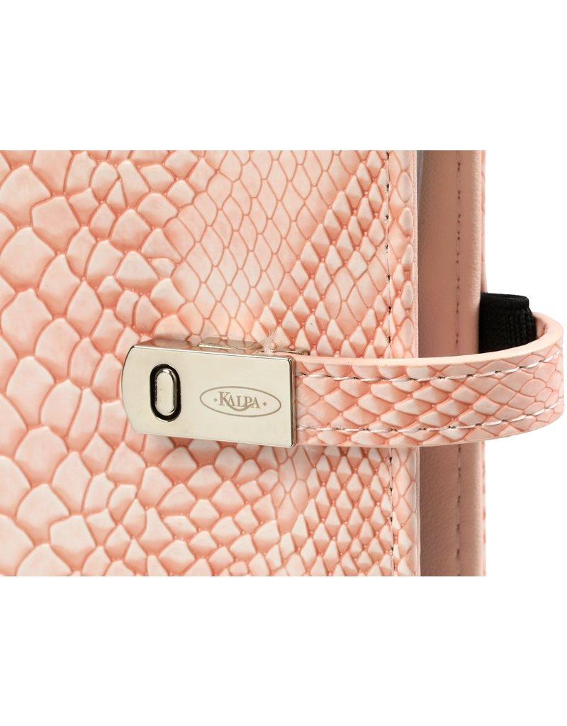 Kalpa A5 organiser croco pink