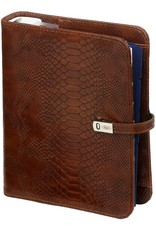Kalpa A5 organiser croco brown