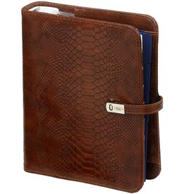 Kalpa 1011-74 A5 organiser croco brown