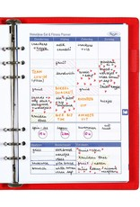 Kalpa Compact A5 organizer gloss croco rood  met planner