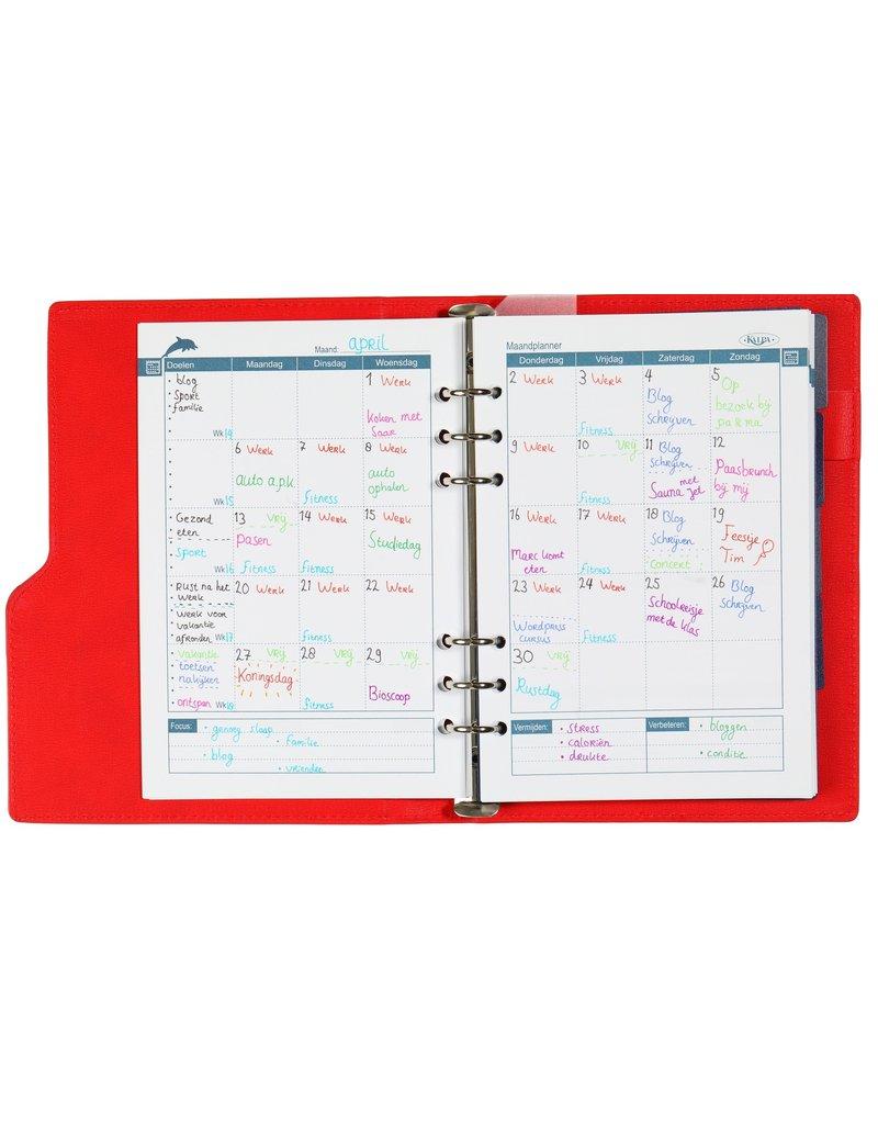 Kalpa Kalpa A5 Compact Organizer Gloss Croco Red with planner