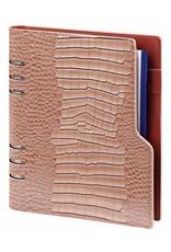 Kalpa Compact A5 organiser gloss croco taupe