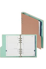 Kalpa Compact A5 organiser pastel pink and green