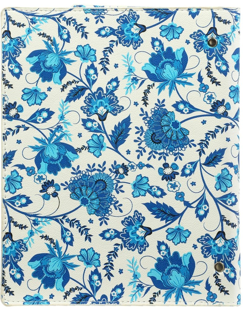 Kalpa Compact A5 organiser compact Delft blue flowers