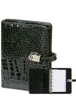 Kalpa Pocket (junior) organizer gloss croco zwart