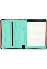 Kalpa Alpstein writing case with zip pastel pink and green