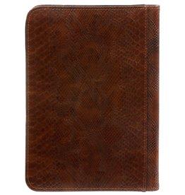 Kalpa 2500-74 A5 Schrijfmap met rits croco bruin