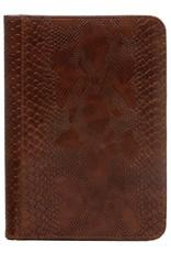 Kalpa  Kalpa A5 writing case croco brown