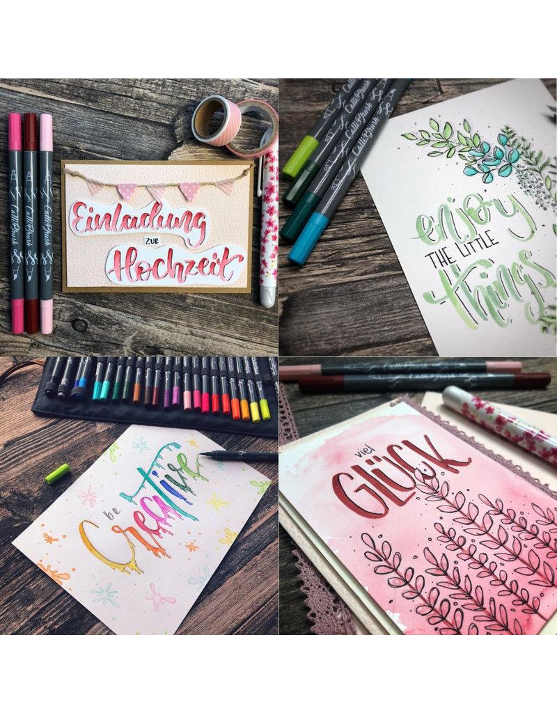 ONLINE Schreibgeräte Set Calli.Brush Pens & Roll Pouch