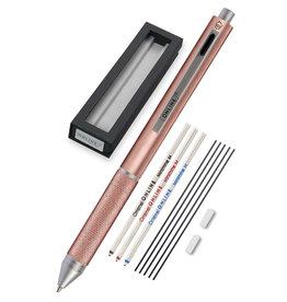 ONLINE Schreibgeräte 70017 Multifunctionele pen rosegold, 3 kleuren en vulpotlood