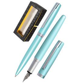 ONLINE Schreibgeräte 34649 Set fountain pen/ballpen Satin Turquoise