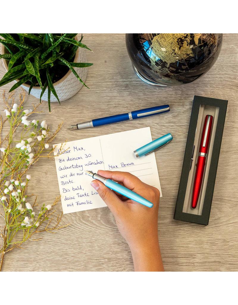 ONLINE Schreibgeräte Set fountain pen/ballpen Satin Turquoise