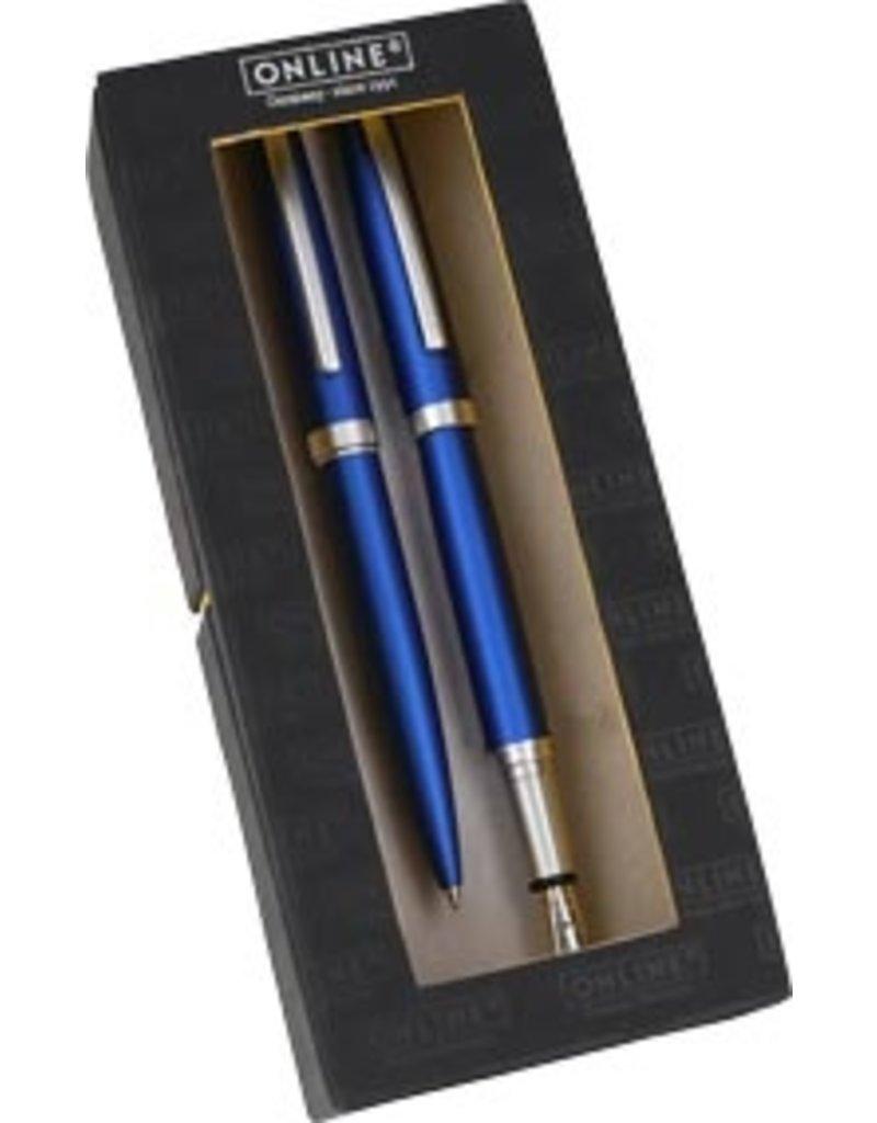 ONLINE Schreibgeräte Set fountain pen/ballpen Satin Blue