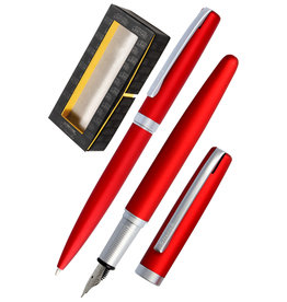 ONLINE Schreibgeräte 34647 Set fountain pen/ballpen Satin Red