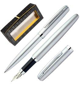 ONLINE Schreibgeräte 34371 Set fountain pen/ballpen Silver