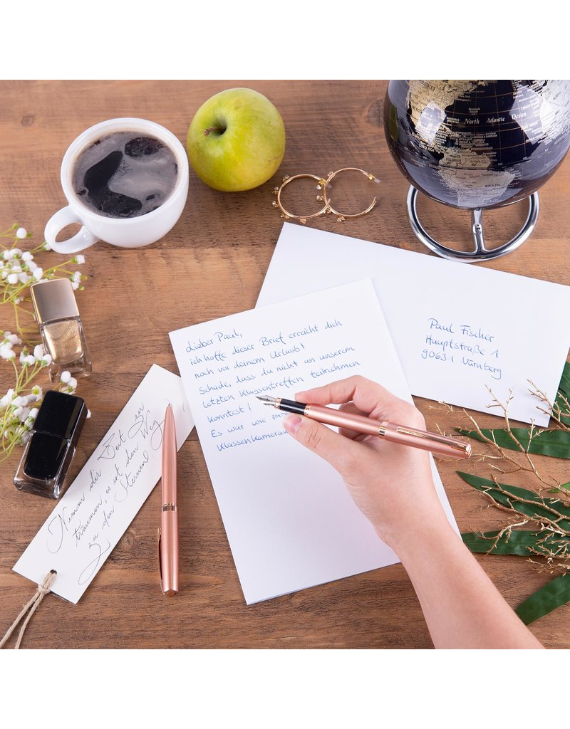 ONLINE Schreibgeräte Set fountain pen/ballpen Silver