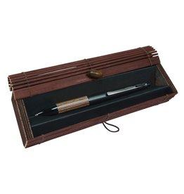 ONLINE Schreibgeräte 31314 Multifunctionele pen Kastanje in Bamboo Pen Box