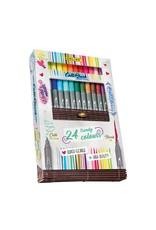 ONLINE Schreibgeräte 24 Calli.Brush pennen dubbele punt in bamboe doos