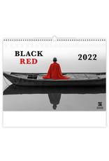 Helma Kalpa Wall Calendar 2022 Black and Red 48.5 x 34 cm